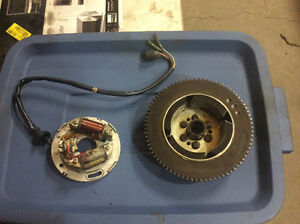 Stator/back plate et magneto avec ring gear Exciter 89 Yamaha  $