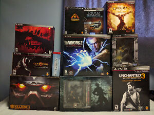 Huge PS3 Collector Editions Game Lot - New Price!!