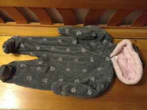 6-12 months Cherokee baby snow suit girl EXCELLENT Condition