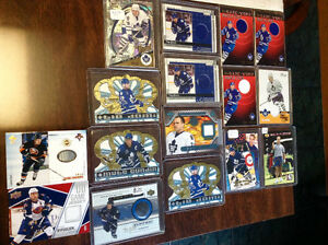 Game Used Jerseys Stick Puck Signature Hockey Cards Lot $50
