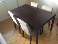 Modern/Industrial Style Dining Table and Four Chairs