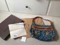 Louis Vuitton Denim Monogram Baggy PM Handbag