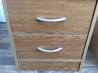 Bedside cabinet with 2 drawers 1 set only