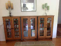 Two Wood CD/DVD Cabinets with Glass Doors Watch|Share |Print|Rep