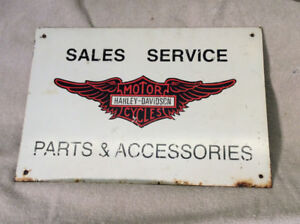 Antique metal HARLEY DAVIDSON PARTS & ACCESSORIES sign !