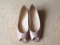Russell & Bromley nude peep toe shoes size 38 1/2
