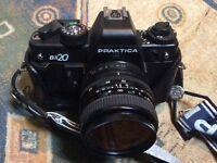 Vintage Praktica Camera and 3 lens