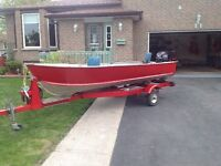 Boat, motor and trailer package for sale
