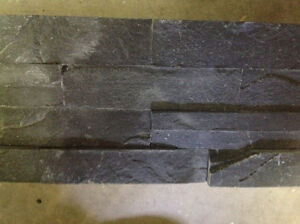 Earth coverings 3 dimensional black slate wall tiles