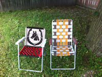 Patio Table With two Chairs