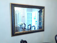 Two Beautiful Golden Framed Mirrors
