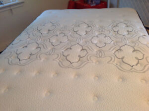 Double bed with boxspring, mint condition.