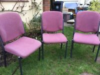 Superb Robust CHAIRS - High Back & Stackable, Excellent Condition.