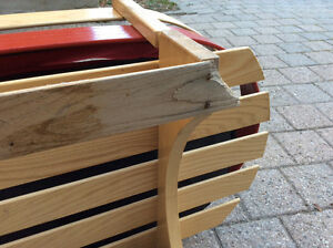 Wooden baby sled with cushion Kitchener / Waterloo Kitchener Area image 2