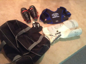 Hockey bag and gear