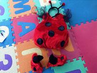 Brand New Condition Ladybug custume size 1-2Y