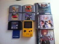 lot pokemon gameboy ps1 final fantasy nintendo N 64 DINO CRISIS