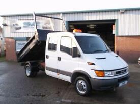 2004 54 IVECO DAILY 35C12 CREW DOUBLE CAB TIPPER 116BHP DIESEL 7 SEATS 1 OWNER