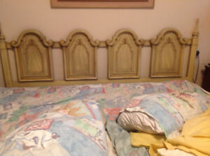 SOLID WOOD KING SIZE FRENCH PROVINCIAL HEADBOARD