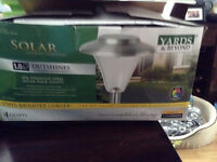 Brand new stainless steel solar walk out lights