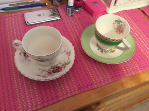 Various Tea cups and Saucers