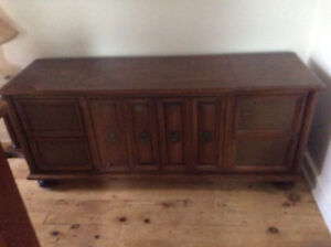 Old stereo case used for storage