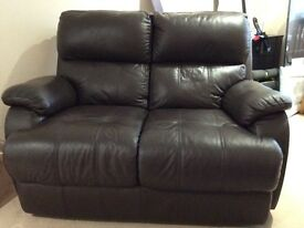 Two seater leather sofa like new!