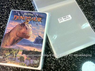 100 Clear Standard DVD case Plastic OPP / CELLO Bags non shrink 6x8