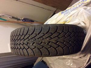 Goodyear winter tire mounted on rims Edmonton Edmonton Area image 1