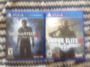 Sniper Elite 4 , Uncharted 4 PS4 $50 for both