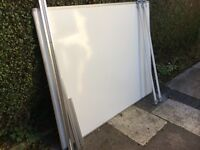 WHITE BOARD with Wall Track & Hanger Bars - 1500 x 1200
