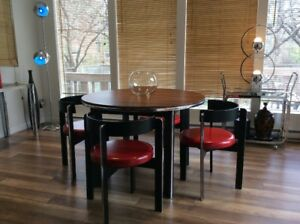 1970 Dining Table Set (6 chaises)Table Salle a Manger 1970