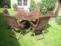 Wooden Garden Table set