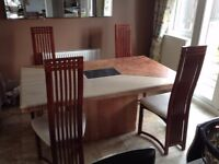 Italian Marble Dining Table and 6 chairs