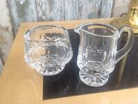 Waterford Crystal cream jug and sugar bowl Lismore £30.00