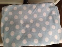 Duck egg blue throw 160 x 200 excellent condition x 2