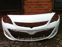 Vauxhall Astra J facelift 2012 2013 2014 2015 genuine front bumper in white for sale