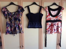 Trio of Ladies Size 12 tops from New Look