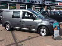 63 VW CADDY MAXI 1.6 C20 TDI KOMBI CREW VAN 5 SEATER AIR CON ELEC PACK CHOICE