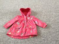 Fleece lined rain coat