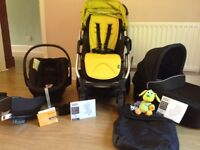 Sola City Pram/Buggy Complete Travel System with Cybex Car seat & Isofix Base