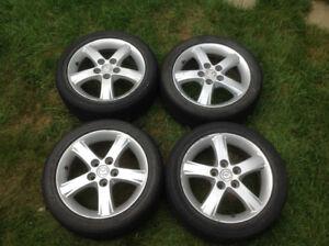 Jantes (Mags) avec 4 pneus d'été Sport Mazda Protege 195/50R16