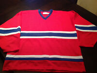 LOT 60 CHANDAILS HOCKEY,BLANK JERSEYS CANADIEN MONTREAL,25$CH