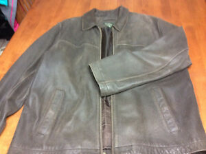 Brown Leather Eddie Bauer jacket