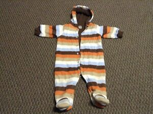 Carter's Thin 9 month Fleece Snow Suit