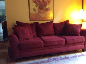 Sofa 3 places rouge