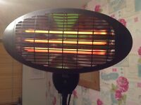 Freestanding 2kw electric quartz bulb patio heater