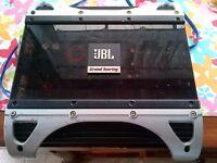 "Jbl amp and 10"" infinity subwoofer set."