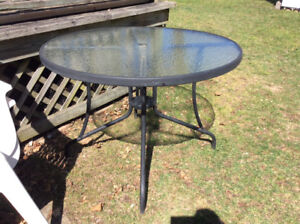 """40"""" Glass Patio Table **NO CHAIRS **"""