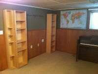 One bedroom basement suite available immediately for rent